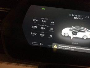 auto elektromobil Tesla Model S rekord v dojezdu 1078 km