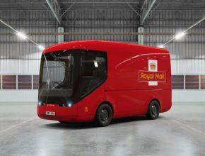 auto elektromobily elektrická dodávka Britská královská pošta elektrododávka