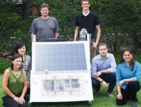 skládací solární panel Rice University