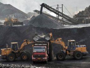 auto těžba uhlí Čína