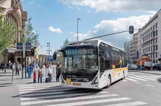 auto Norsko Trondheim elektrobus Volvo 9700 elektrický autobus