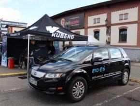 auto elektromobil BYD e6 Praha Future Port Prague 2017