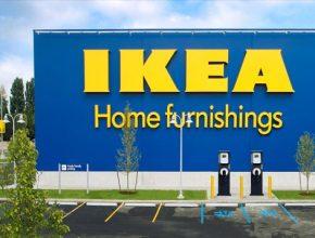 auto IKEA nabíjecí stanice pro elektromobily