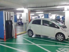 auto Peugeot iOn elektromobil nabíjecí stanice podzemní garáže Bílsko Bělá Greenway