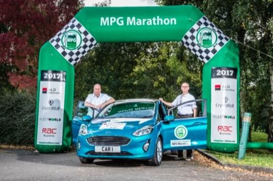auto nový Ford Fiesta rekord MPG Marathon