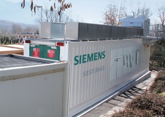 auto baterie Siemens Siestorage velkokapacitní úložiště