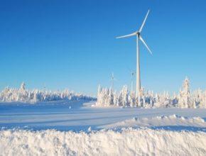 auto Švédsko větrná turbína elektrárna farma