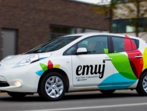 auto eMuj elektromobil Nissan Leaf
