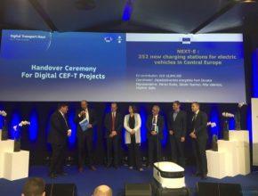 auto Evropa podepsání dohody NEXT-E v Tallinu v Estonsku