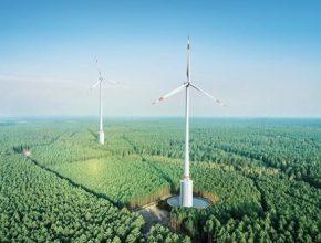 Nové větrné elektrárny společnosti Max Bögl Wind AG fungují zároveň jako přečerpávací vodní elektrárna.