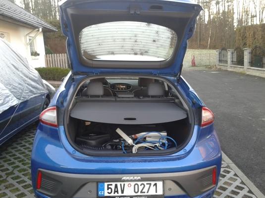 Kufr elektromobilu Hyundai Ioniq Electric