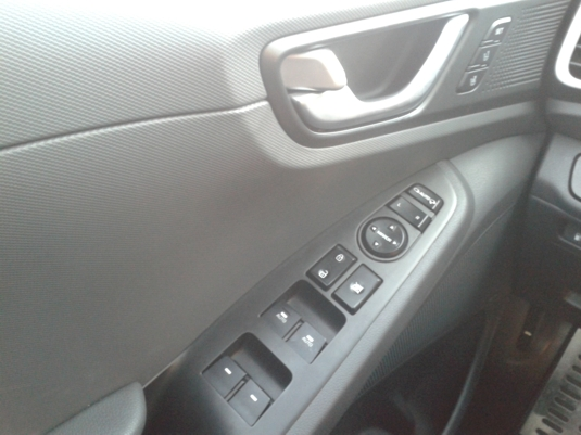 Dveře řidiče v elektromobilu Hyundai Ioniq Electric