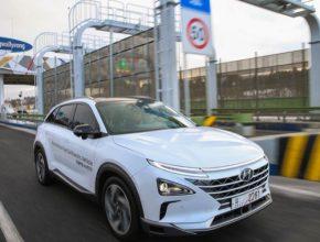 Elektromobil NEXO s palivovými články úspěšně dokončil nejdelší demonstrační autonomní jízdu úrovně 4 v Jižní Koreji.