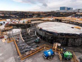 Stavba jaderné elektrárny Hinkley Point C na pobřeží Velké Británie