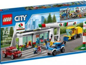 auto LEGO čerpací stanice nabíječka pro elektromobily benzinka