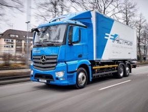 auto elektromobil nákladní Mercedes-Benz eActros