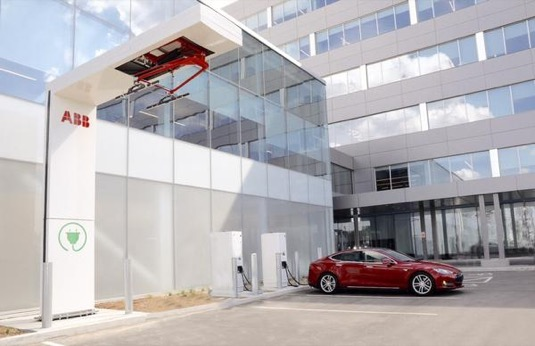 auto ABB nabíjecí stanice pro elektrické autobusy elektrobusy