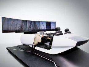 Inteligentní individualizovatelný interiér spřipojením kinternetu věcí ilustruje vývoj techniky síťového propojení automobilů funkcí propojení mezi automobilem a domácností včetně hlasového ovládání.
