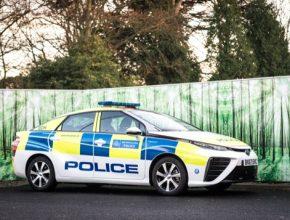 Vodíkové auto Toyota Mirai jako vůz londýnské policie