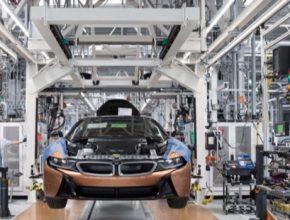 auto výroba plug-in hybridu BMW i8 továrna Lipsko