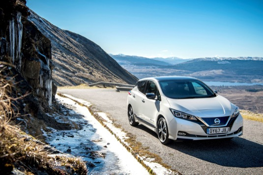 auto nový elektromobil Nissan Leaf Norsko prodeje