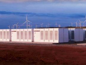 BESS bateriový energetický úložný systém Tesla Hornsdale větrná farma