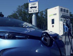 auto GreenWay rychlonabíječka nabíjení elektromobilu Renault Zoe ZOE