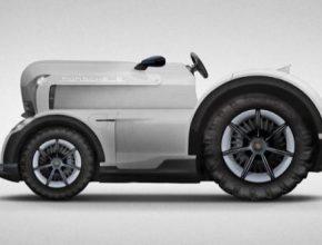auto Porsche Mission E Tractor