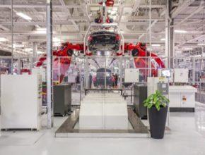auto Čína továrna Tesla Fremont výroba elektromobilů