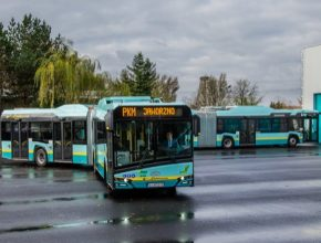 auto elektrobus elektrický autobus Solaris 18m New Urbino