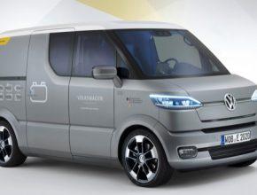 auto elektromobil Volkswagen Transporter elektrická dodávka