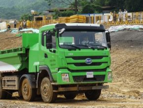 auto elektromobil sklápeč nákladní auto Šen-čen BYD
