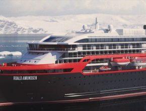 loď Norsko Hurtigruten hybridní Roald Amundsen