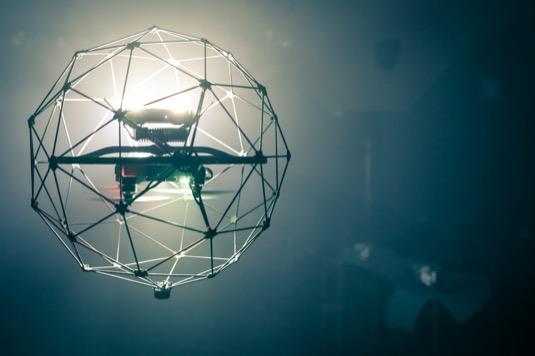 Inspekční dron v akci