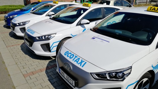 Elektrická flotila olomoucké taxislužby