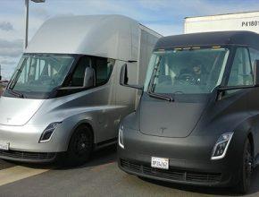 auto elektrický tahač elektromobil elektrotahač Tesla Semi