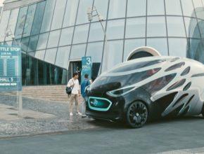 auto elektromobily Urbanetic mohou fungovat jako letištní shuttly