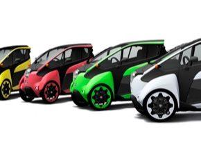 Elektrická tříkolka Toyota i-Road má už letitou historii, představena byla v roce 2013.