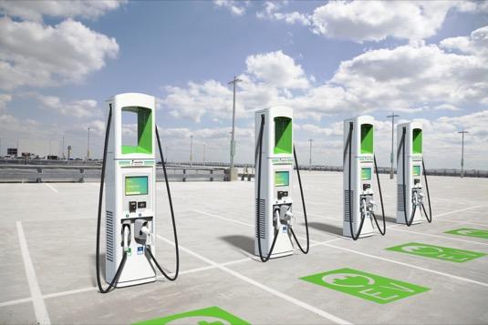 auto rychlo-nabíjecí stanice pro elektromobily Electrify America Volkswagen