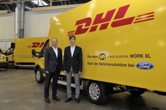 Ford spustil ve svém výrobním závodě v německém Kolíně nad Rýnem montáž užitkového vozu Deutsche Post StreetScooter WORK XL.