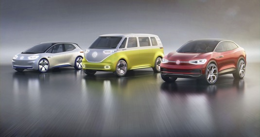 auto elektromobily nová řada VOlkswagen I.D.
