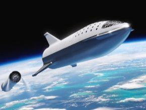 BFR neboli Starship - vrchní stupeň nové vesmírné rakety společnosti SpaceX.