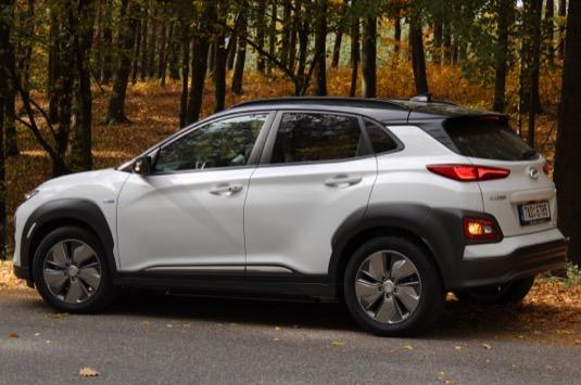 auto test elektromobilu Hyundai Kona Electric