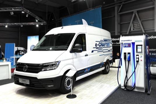 auto elektromobil elektrická dodávka elektrododávka Volkswagen e-Crafter