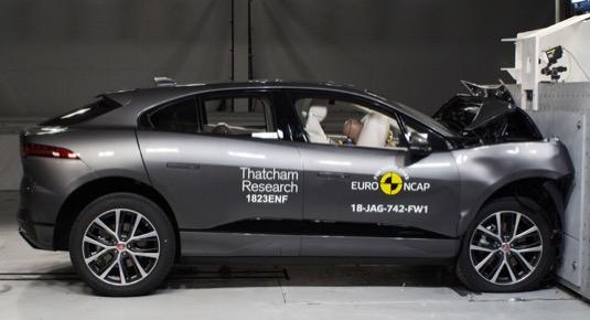 auto elektromobil Jaguar I-Pace Crashtest