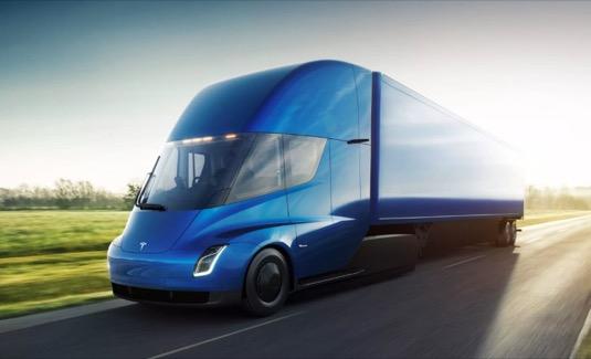 auto elektromobily elektrický tahač Tesla Semi