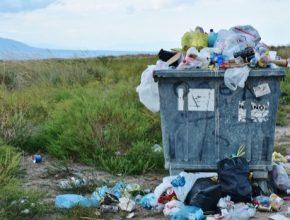 odpadkový kontejner plasty odpad