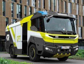 koncept elektrického hasičského vozu Rosenbauer Concept Fire Truck (CFT)