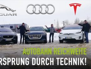 auto elektromobily Tesla Model X, Audi e-tron Jaguar I-Pace