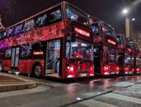 auto elektrobusy autobusy double-decker BYD Čína